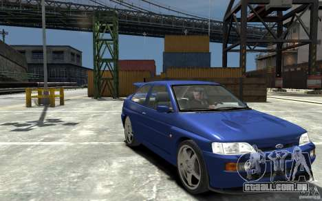 Ford Escort Cosworth para GTA 4 vista de volta