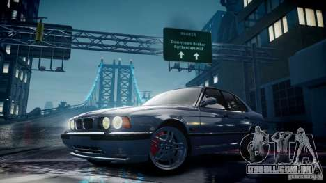 BMW M5 (E34) 1995 v1.0 para GTA 4 vista lateral