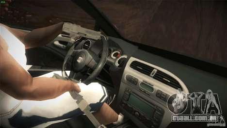 Seat Leon Cupra para GTA San Andreas vista inferior