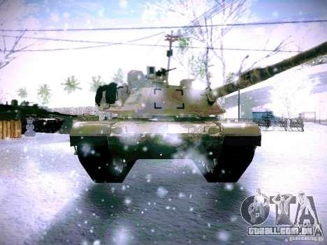 M1A2 Abrams de Battlefield 3 para GTA San Andreas vista traseira