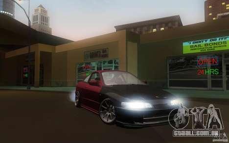 Honda Integra JDM para GTA San Andreas vista traseira
