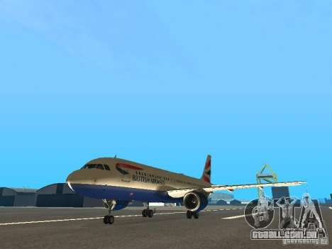 Airbus A320 British Airways para GTA San Andreas