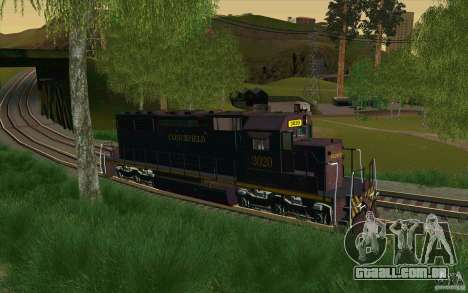 Clinchfield sd40 para GTA San Andreas esquerda vista
