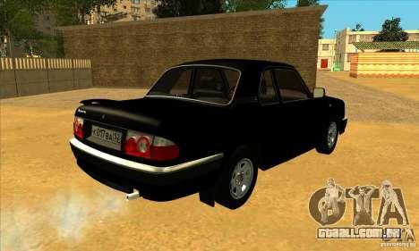 Volga GAZ 3110 sedan para GTA San Andreas traseira esquerda vista