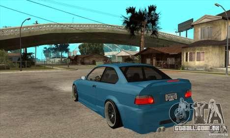 BMW M3 HAMMAN para GTA San Andreas traseira esquerda vista