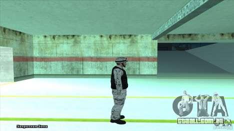 Army Soldier v2 para GTA San Andreas por diante tela