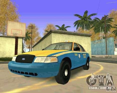 Ford Crown Victoria 2003 Taxi Cab para GTA San Andreas vista traseira