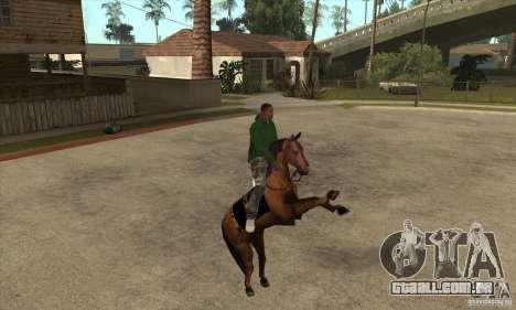 Cavalo para GTA San Andreas por diante tela