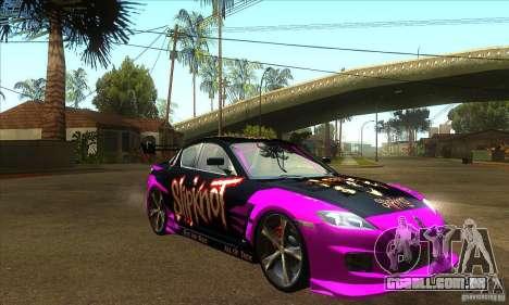 Mazda RX8 Slipknot Style para GTA San Andreas vista traseira