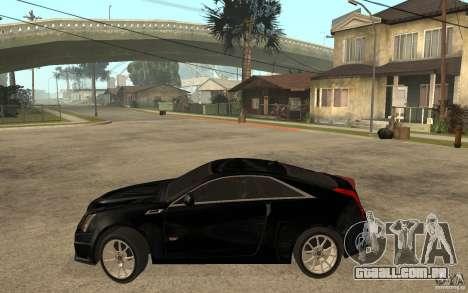 Cadillac CTS V Coupe 2011 para GTA San Andreas esquerda vista