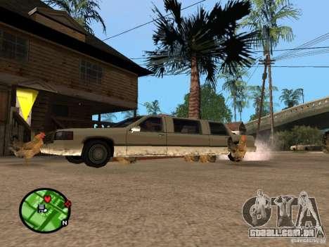 Galinhas no GTA San Andreas para GTA San Andreas por diante tela