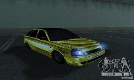 Lada Priora Gold para GTA San Andreas vista direita