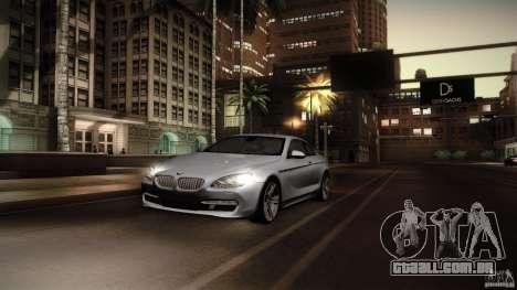 BMW 640i Coupe para GTA San Andreas vista traseira
