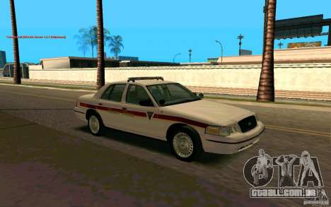 Ford Crown Victoria South Dakota Police para GTA San Andreas vista direita