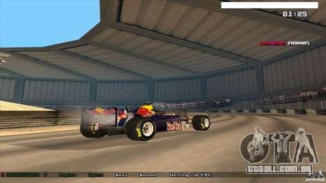 Ferrari F1 RedBull para GTA San Andreas esquerda vista