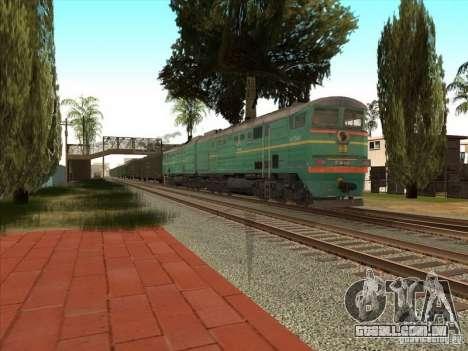 2te10v-3390 para GTA San Andreas traseira esquerda vista