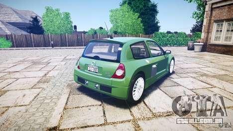 Renault Clio V6 para GTA 4 vista superior