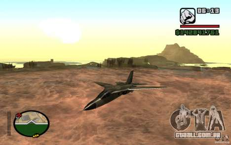 F-111 Aardvark para GTA San Andreas esquerda vista
