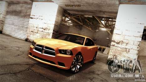 Dodge Charger SRT8 2012 para GTA San Andreas vista interior