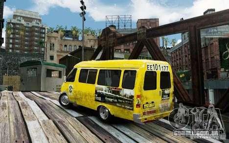 Gazela 2705 táxi v 2.0 para GTA 4 esquerda vista