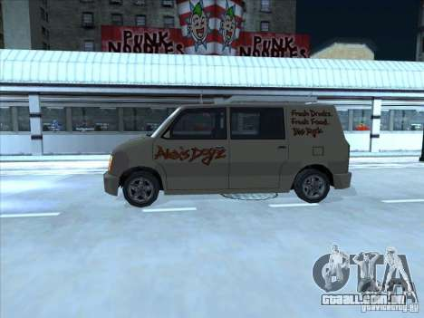 Hot Dog Moonbeam para GTA San Andreas traseira esquerda vista