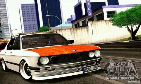 BMW E28 525e RatStyle No1 para GTA San Andreas traseira esquerda vista