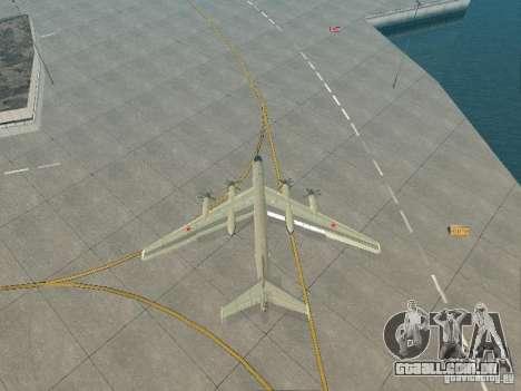 Tu-95 para GTA San Andreas vista traseira