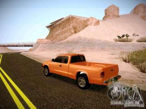 Dodge Ram 1500 Dacota para GTA San Andreas traseira esquerda vista