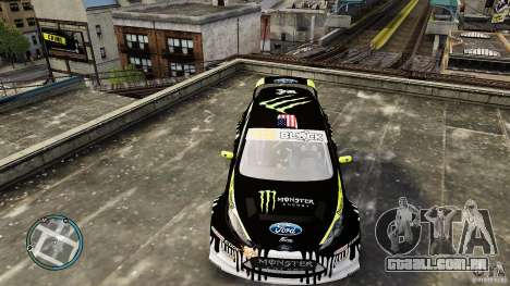 Ken Block Ford Fiesta 2011 para GTA 4 vista direita