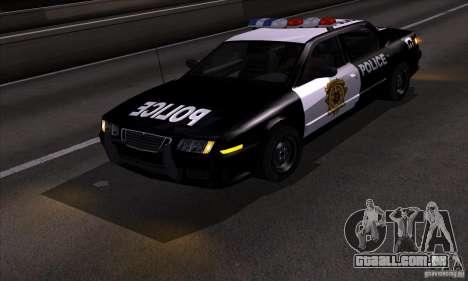 NFS Undercover Police Car para GTA San Andreas vista traseira