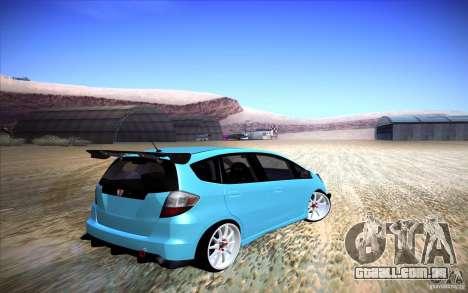 Honda Fit para GTA San Andreas traseira esquerda vista