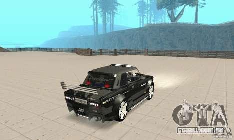 Tunning de fantasia arte VAZ 2106 para GTA San Andreas esquerda vista
