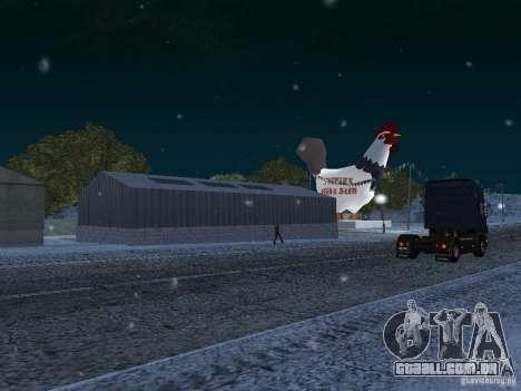 Neve para GTA San Andreas quinto tela