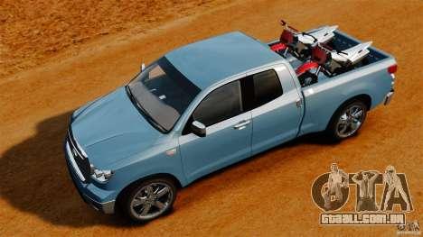 Toyota Tundra 2011 para GTA 4 vista direita