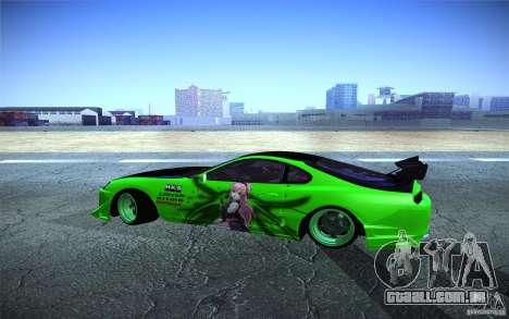 Toyota Supra Tuned para GTA San Andreas esquerda vista