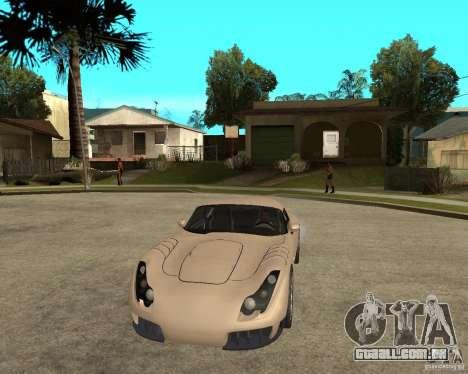 TVR Sagaris para GTA San Andreas vista traseira