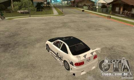 Honda Civic Tuning Tunable para GTA San Andreas vista traseira