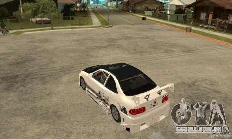 Honda Civic Tuning Tunable para GTA San Andreas vista traseira