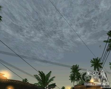 Nuvens de novas para GTA San Andreas segunda tela