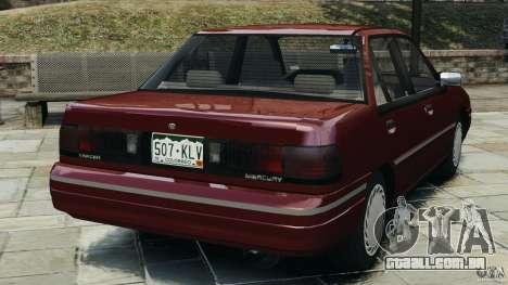 Mercury Tracer 1993 v1.1 para GTA 4 traseira esquerda vista