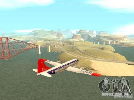 Boeing 377 Stratocruiser para GTA San Andreas esquerda vista