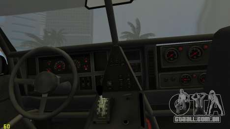 Jeep Cherokee 1984 Sandking para GTA Vice City vista traseira