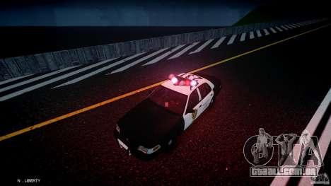 Ford Crown Victoria Raccoon City Police Car para GTA 4 vista inferior