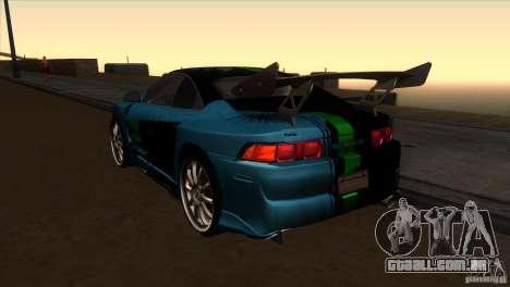 Toyota MR2 Drift para GTA San Andreas traseira esquerda vista