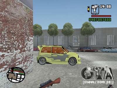 1111 OKA (tuning) para GTA San Andreas vista superior