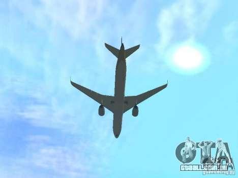 Airbus A350-900 Singapore Airlines para GTA San Andreas vista traseira