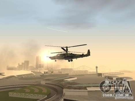 Ka-50 Black Shark para vista lateral GTA San Andreas