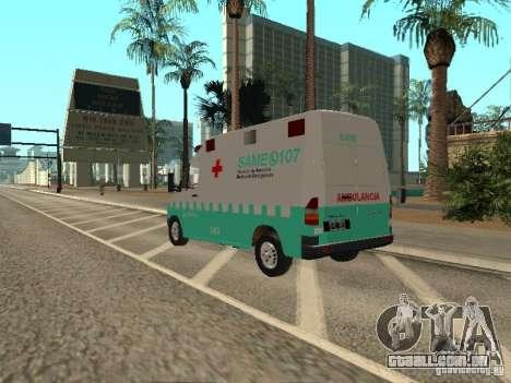Mercedes Benz Sprinter SAME para GTA San Andreas esquerda vista