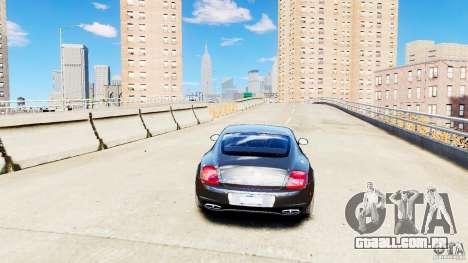 Bentley Continental SuperSports v2.5 para GTA 4 vista de volta