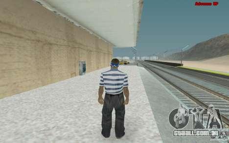 Novas skins para gangue Varios Los Aztecas para GTA San Andreas por diante tela